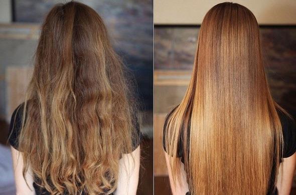 Кератиновое ламинирование волос фото до и после