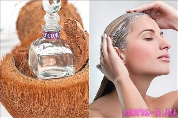 3 лучших ночных маски для волос из кокосового масла
