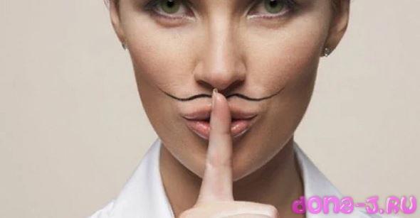 Причины появления темных волосков над губой