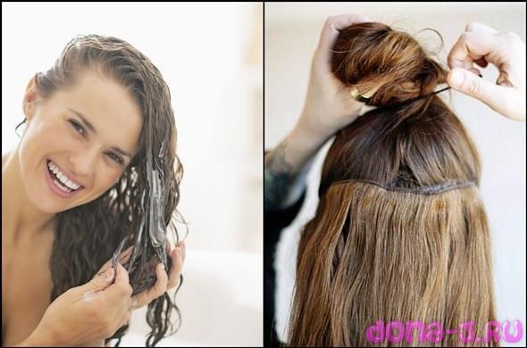 Правила нанесения масок на нарощенные волосы